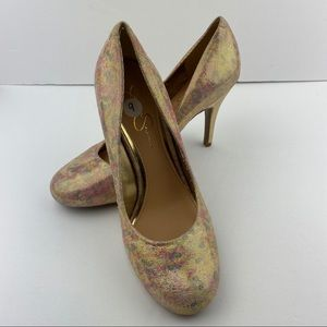 Jessica Simpson Pastel Metallic Leopard Shoes